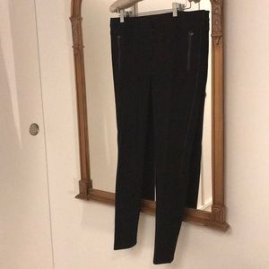 Fitted stretchy thick dress pants